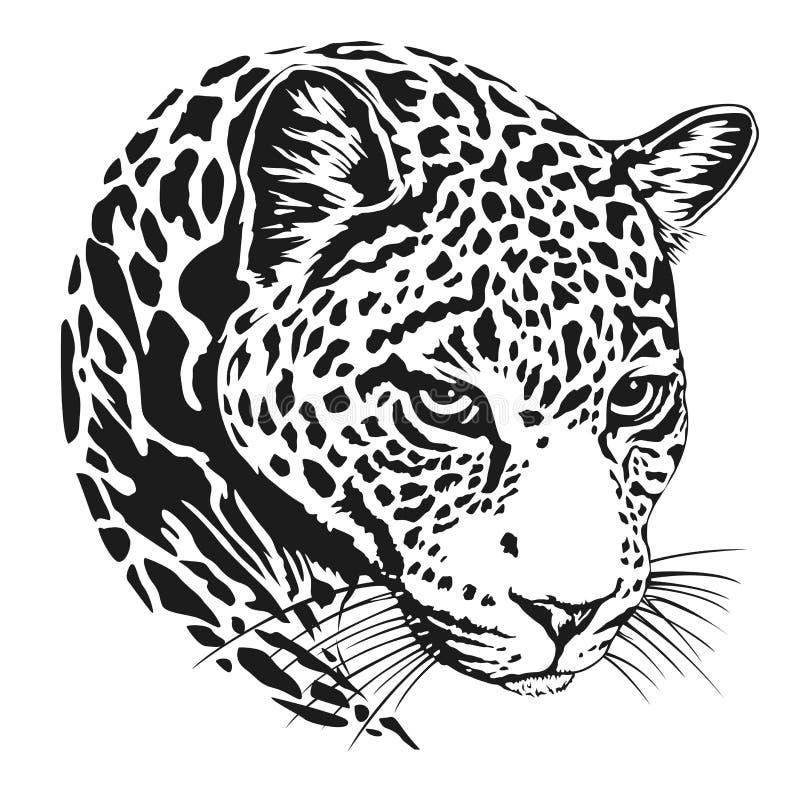 De tatoegering van het luipaardgezicht, Vectorillustratie, druk royalty-vrije stock foto