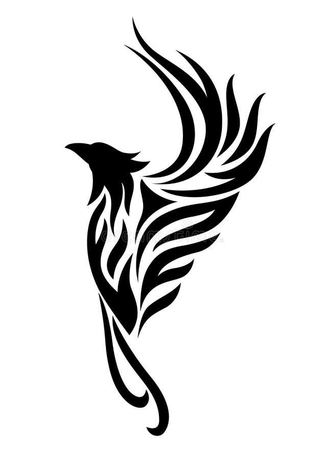 De tatoegering van Phoenix clipart royalty-vrije stock foto's