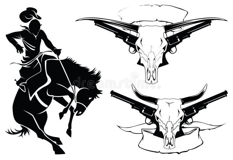 De tatoegering van schetsen vector illustratie
