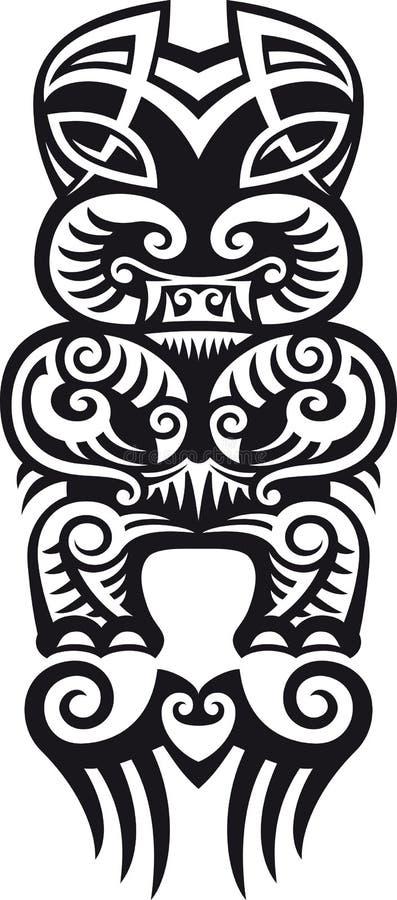 De tatoegeringsontwerp van Taniwha royalty-vrije illustratie