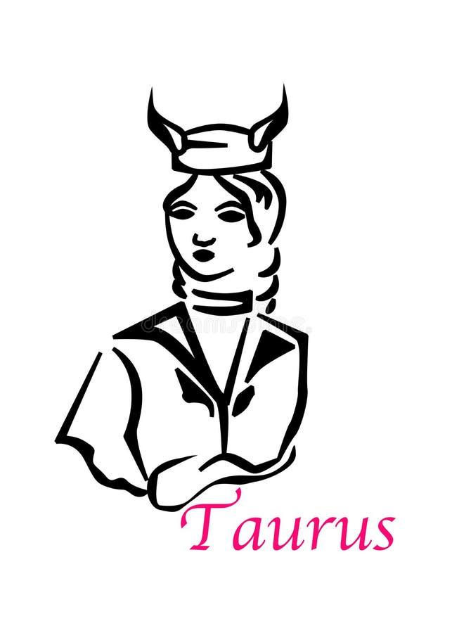 De taurus vrouw stock illustratie