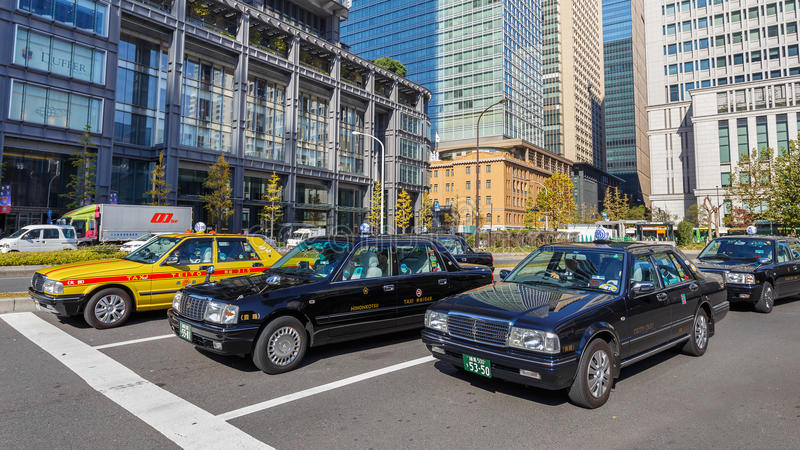 De taxi van Tokio stock foto's