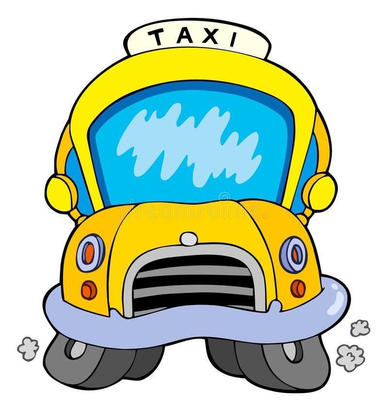 De taxiauto van het beeldverhaal royalty-vrije illustratie