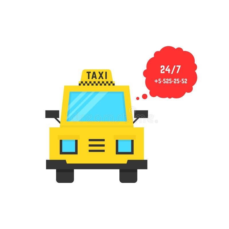 De taxidienst met toespraakbel vector illustratie