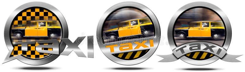 De taxidienst - Metaalsymbolen stock illustratie