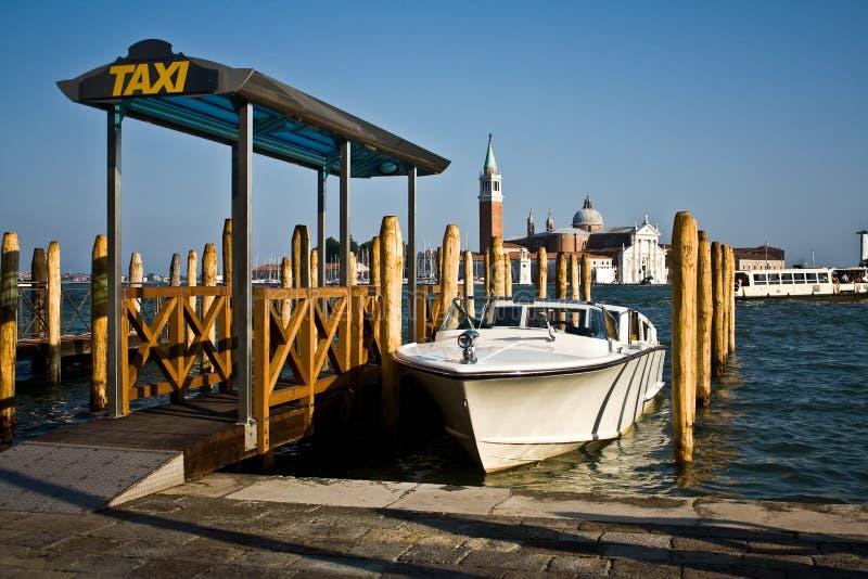 De Taxistandplaats Van Het Water, Venetië Stock Afbeelding