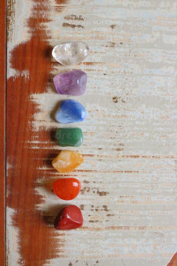 De te helen Chakrasstenen, genezen royalty-vrije stock foto
