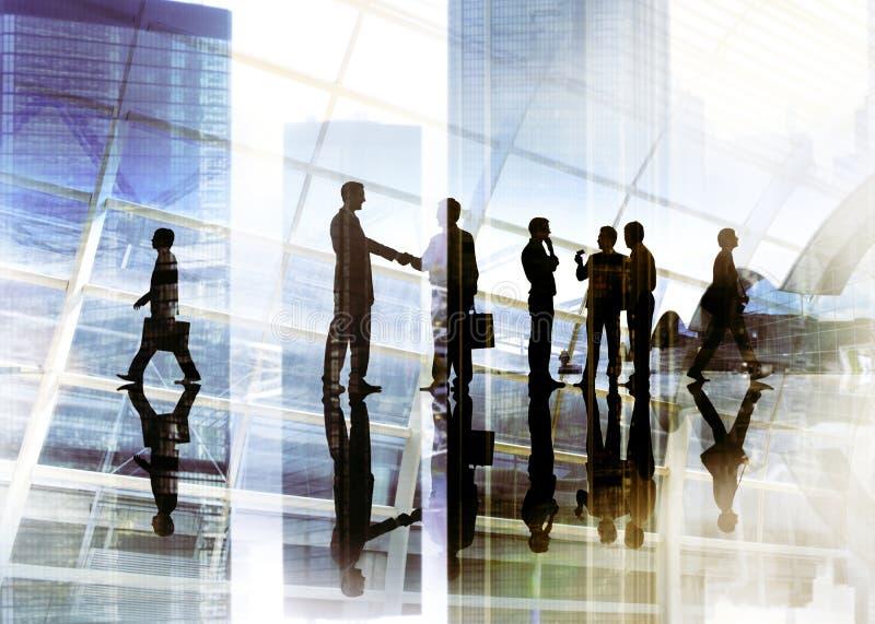 De Team Teamwork Meeting Conference Conce del apretón de manos hombres de negocios fotos de archivo