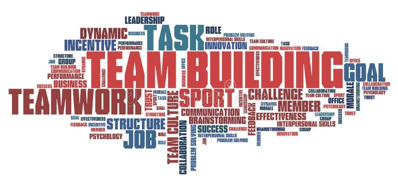 De teambouw vector illustratie