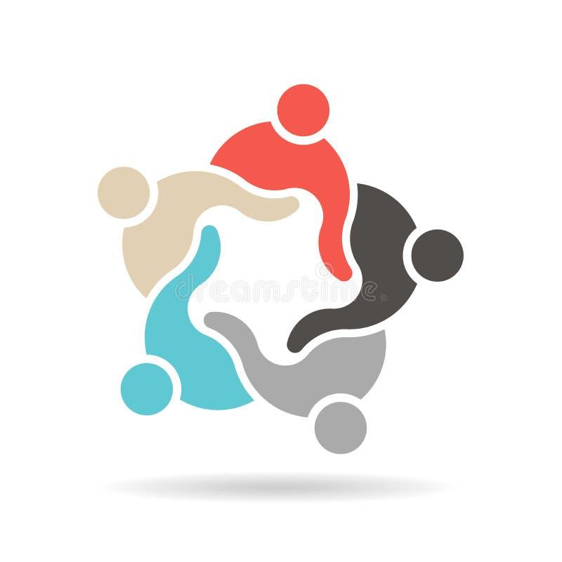 De teamgroep mensen herenigde grafisch ontwerp vector illustratie