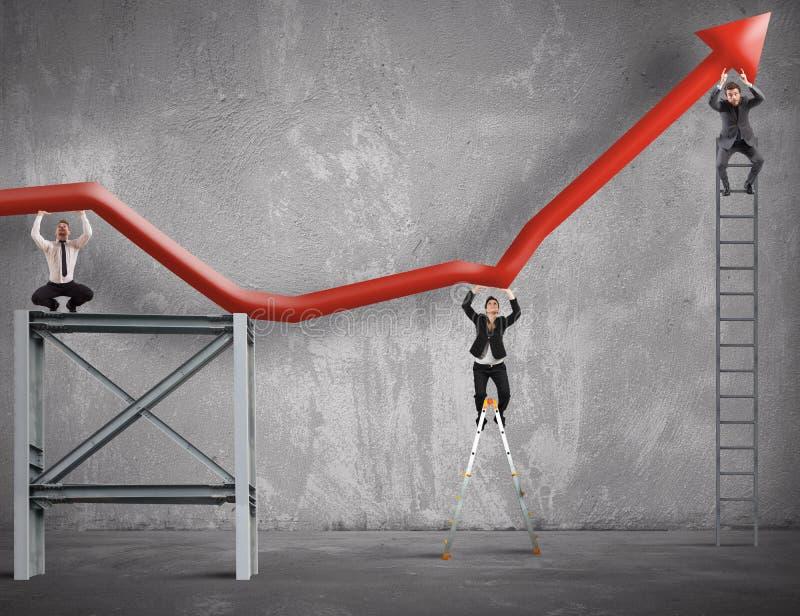 De teamwerken om de bedrijfswinst te verbeteren