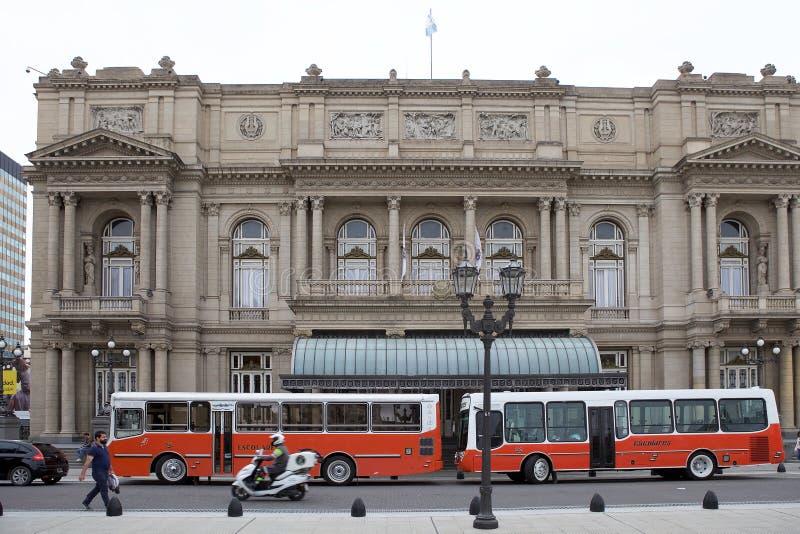 De Teatro-Dubbelpunt in Buenos aires, Argentinië royalty-vrije stock afbeeldingen