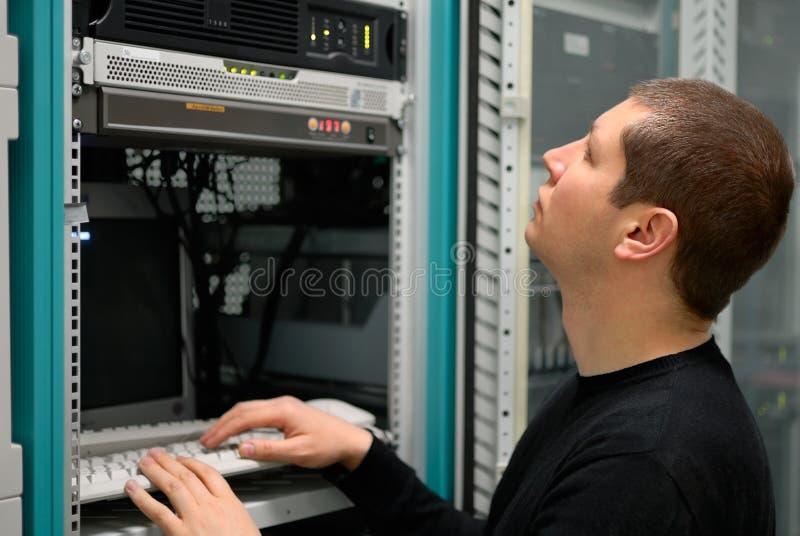 De technicus van het netwerk stock fotografie
