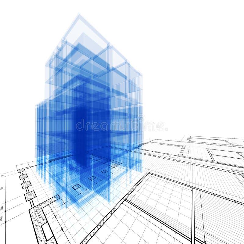 De techniek van de architectuur stock illustratie