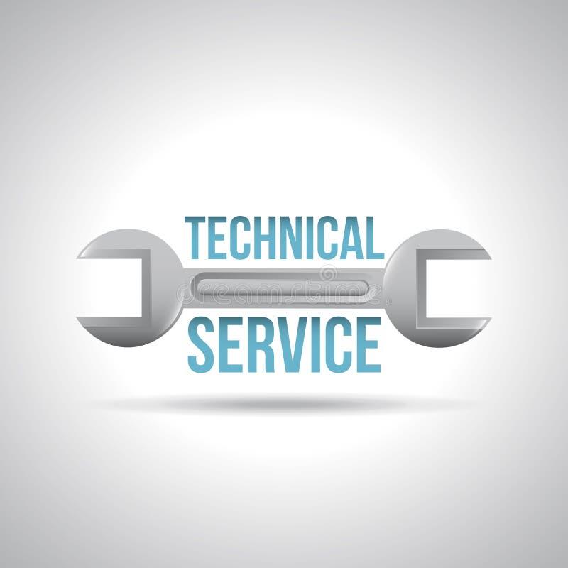 De technische dienst stock illustratie