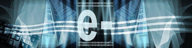 De Technologie en de Elektronische handel van de banner royalty-vrije illustratie