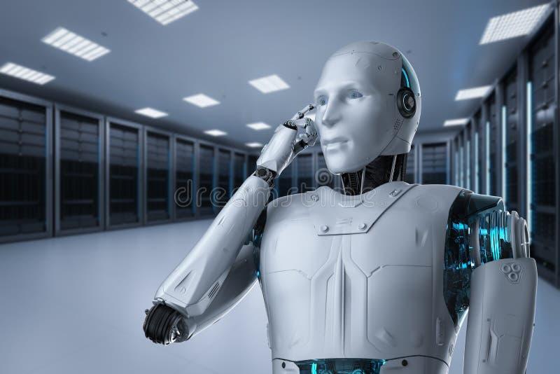 De technologie van de automatiseringsanalyse stock illustratie