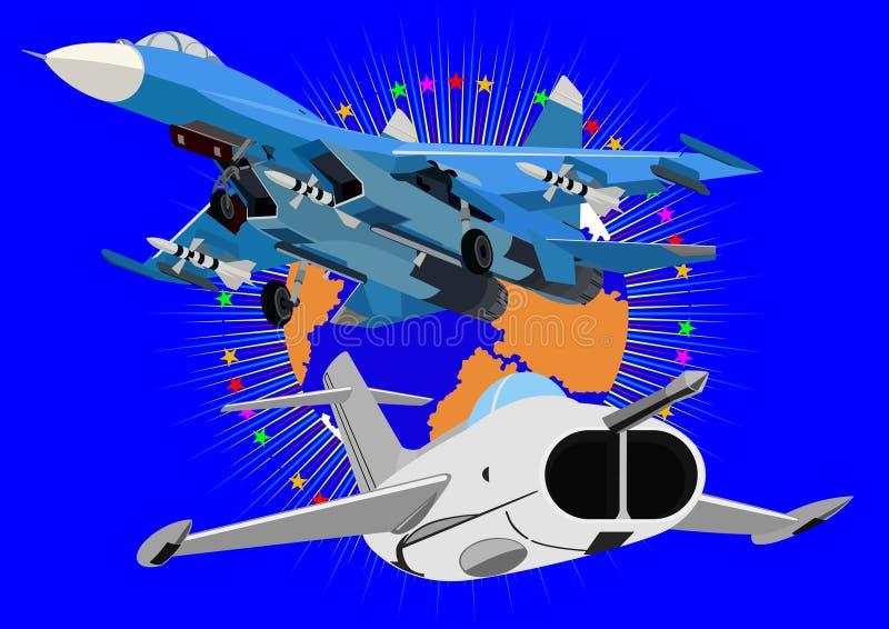 De technologie van de luchtvaart royalty-vrije illustratie