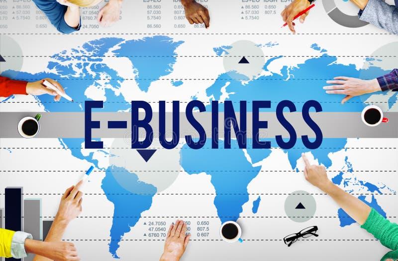 De Technologie van het e-business Online Voorzien van een netwerk Marketing Handel Conce royalty-vrije stock afbeelding