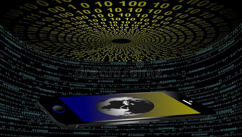 De technologie van het wereldnetwerk mobiele technologiemededeling royalty-vrije illustratie