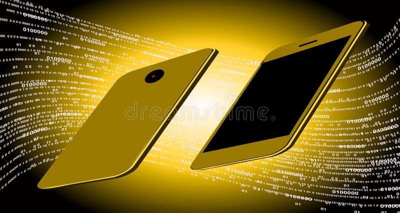 De technologie van het wereldnetwerk mobiele technologiemededeling vector illustratie