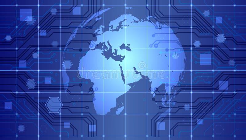 De technologie van het wereldnetwerk Technologiemededeling royalty-vrije illustratie