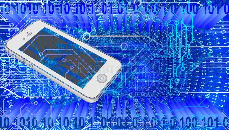 De technologie van het wereldnetwerk Technologiemededeling stock illustratie