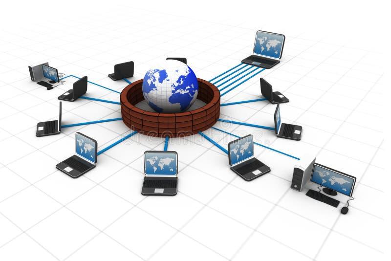 De technologie van Internet royalty-vrije illustratie