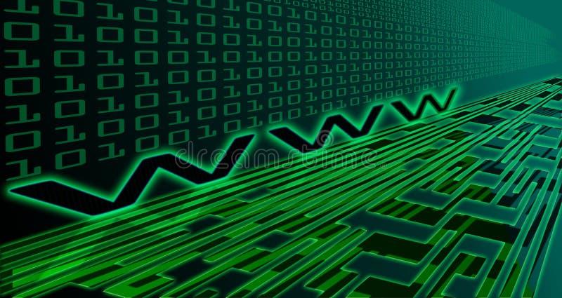 De technologie van Internet stock illustratie