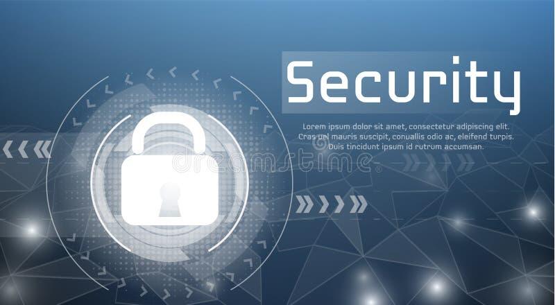De technologie vectorillustratie van de Webveiligheid stock illustratie