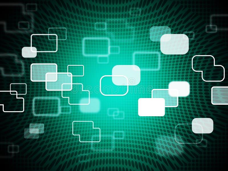 De technologieachtergrond toont Gegevens IT en Telecommunicaties royalty-vrije illustratie
