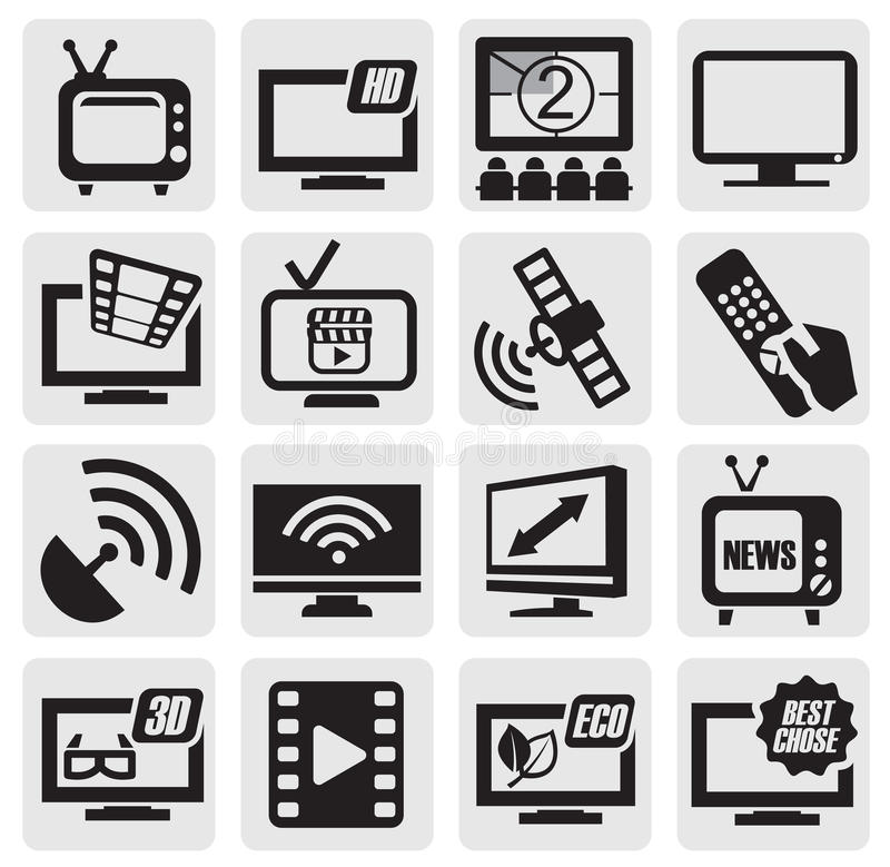 De technologiereeks van TV royalty-vrije illustratie