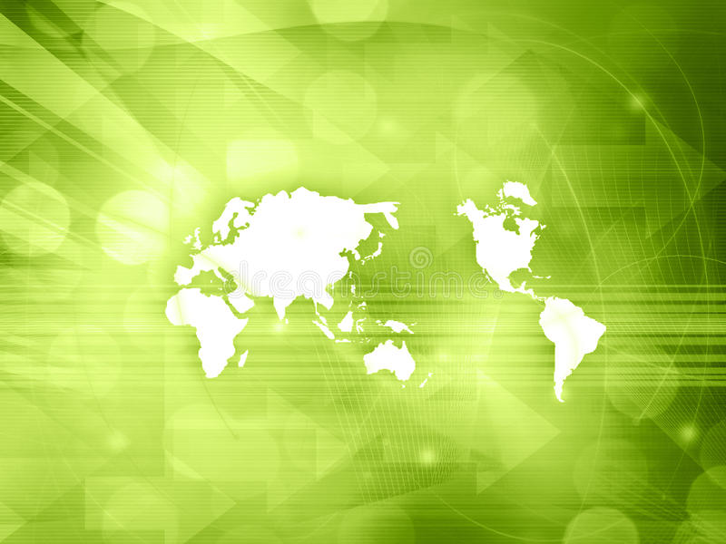 De technologiestijl van de wereldkaart stock foto