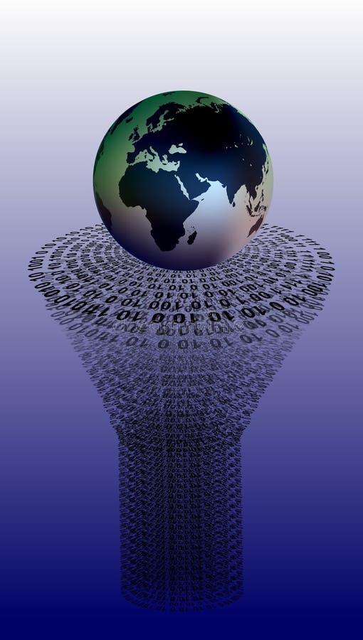 De technologietoekenning van het wereldnetwerk Technologiemededeling vector illustratie