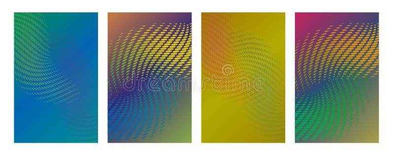 De technologische vectorinzameling van het jaarverslagontwerp E r stock illustratie