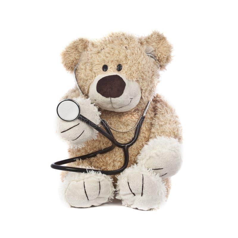 De Teddybeer van de arts stock afbeeldingen