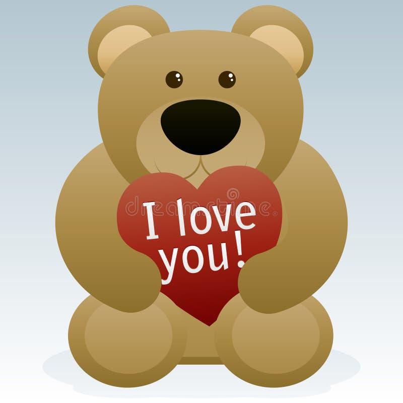 De Teddybeer van de Dag van valentijnskaarten stock illustratie