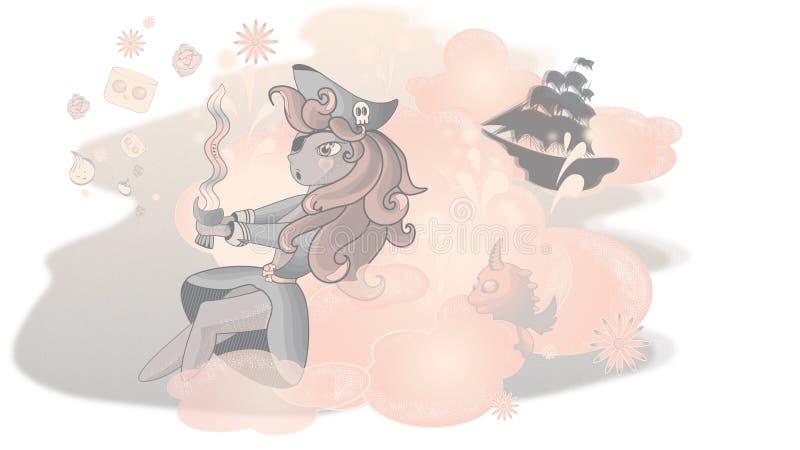 De Tedere Piraat vector illustratie