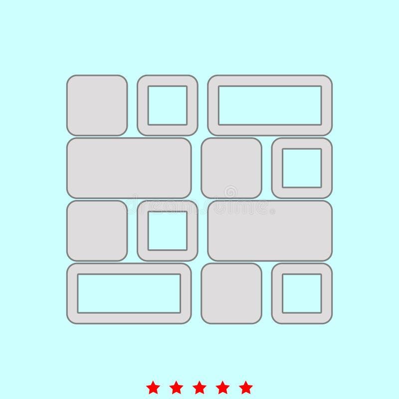 De tegel plaatste het is kleurenpictogram vector illustratie