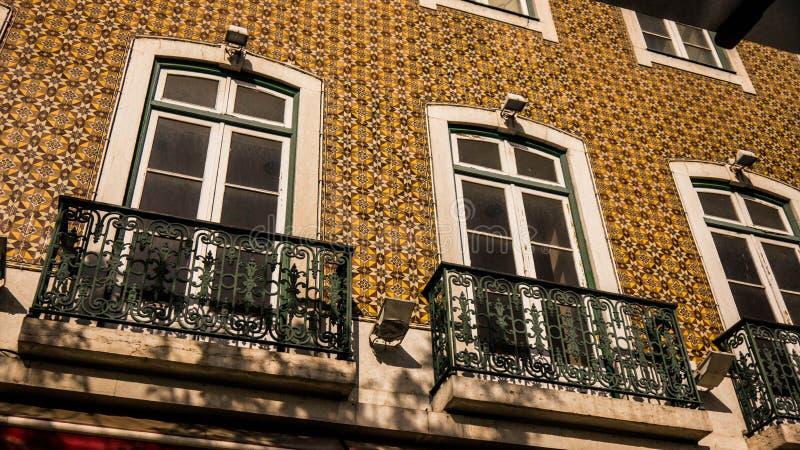 De tegel van Lissabon façade royalty-vrije stock afbeeldingen