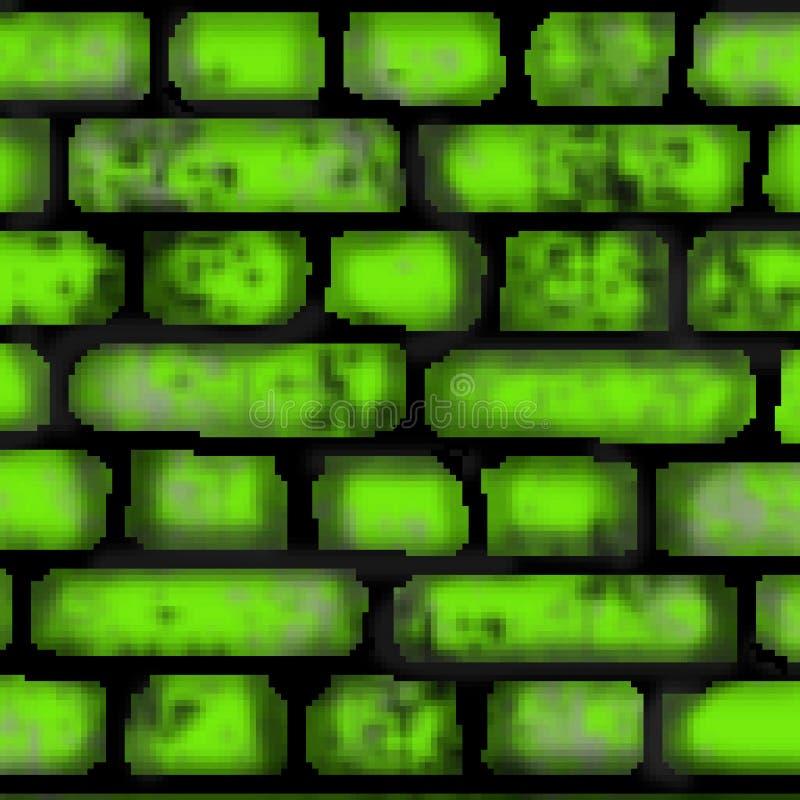 De tegel vierkant patroon met 8 bits van de pixel getrokken gekleurd baksteen stock foto