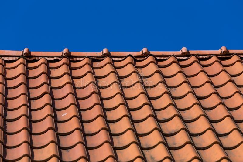 De tegelpatroon van het dak stock afbeeldingen