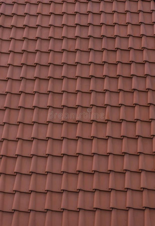 De tegelpatroon van het dak stock afbeelding
