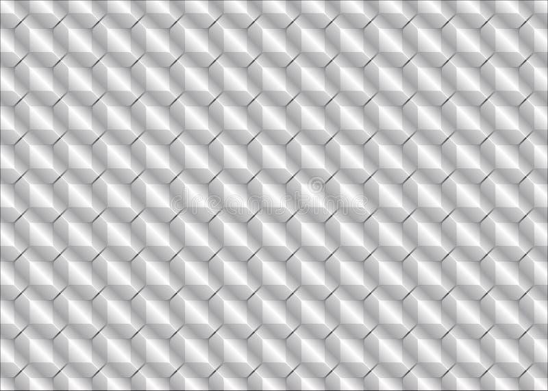 De tegels of de schalen van het textuurmetaal Grijze kleur royalty-vrije illustratie