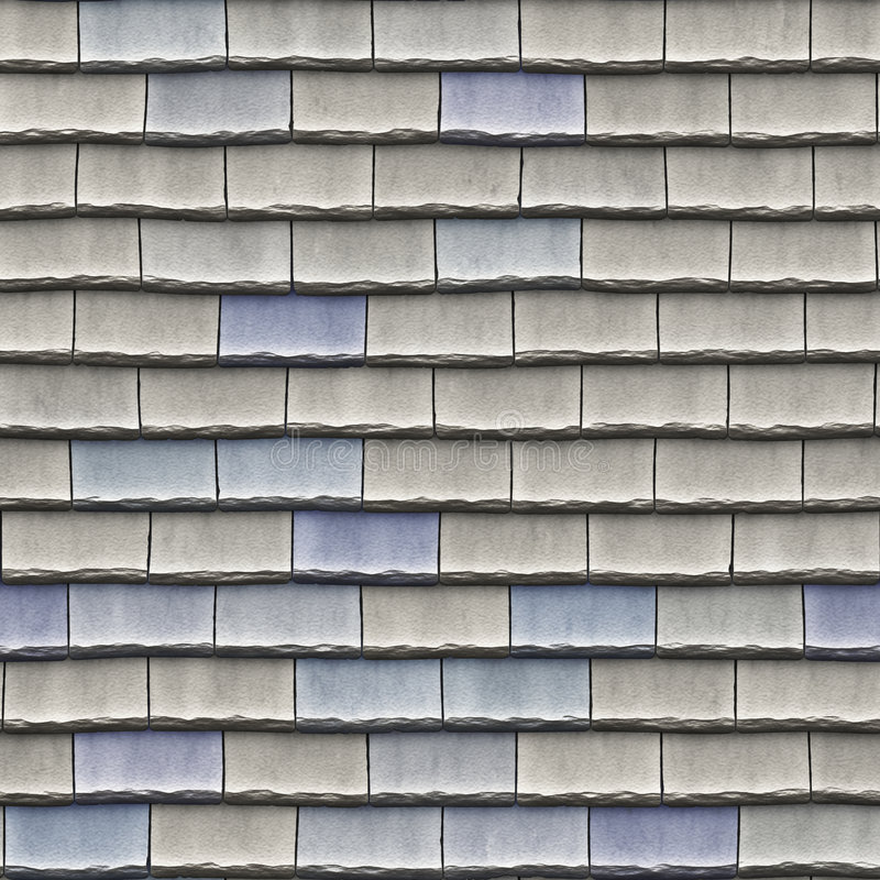 De tegels van het dak royalty-vrije illustratie