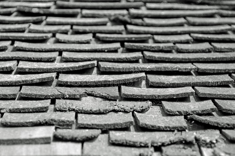 De tegels van het dak stock foto