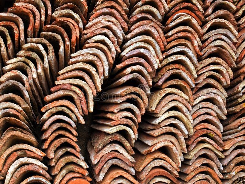 De tegels van het dak stock afbeelding