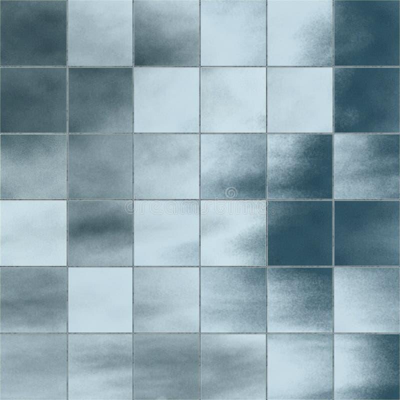 De tegels van het glas stock illustratie