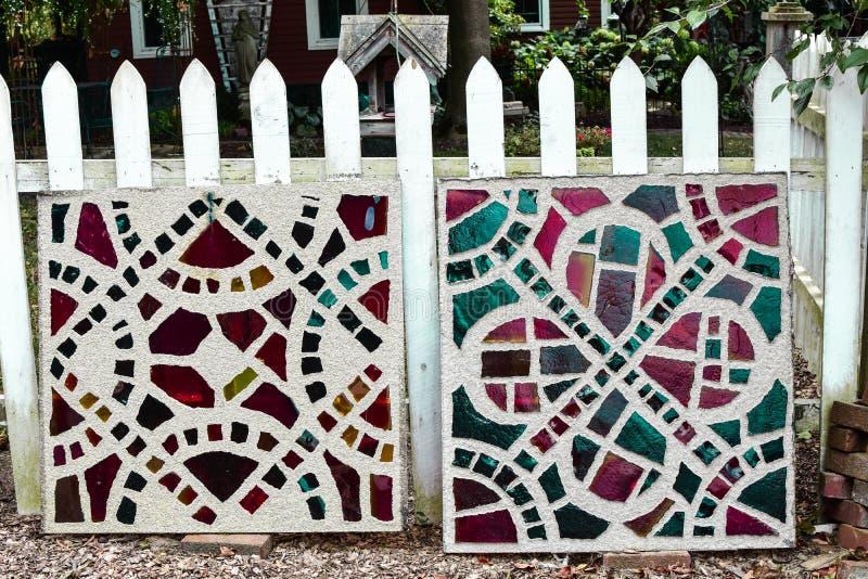 De Tegels van het mozaïekcement stock foto's