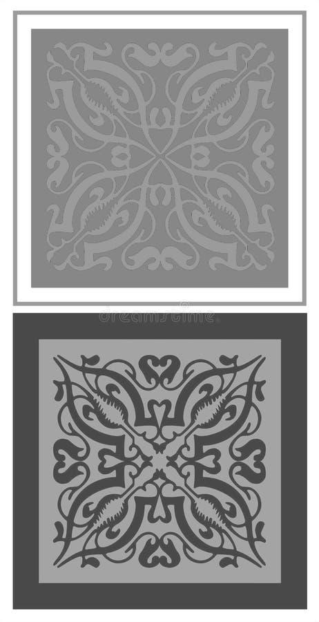 De tegels van het ornament stock illustratie